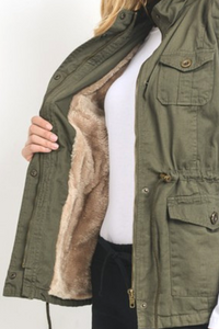 Adventure Bound Fur Lined Vest (Olive)