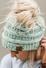Load image into Gallery viewer, C. C Ponytail Confetti Beanie (Multiple Colors)