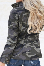 Load image into Gallery viewer, Focus On the Frontlines Jacket (Curvy Camo)