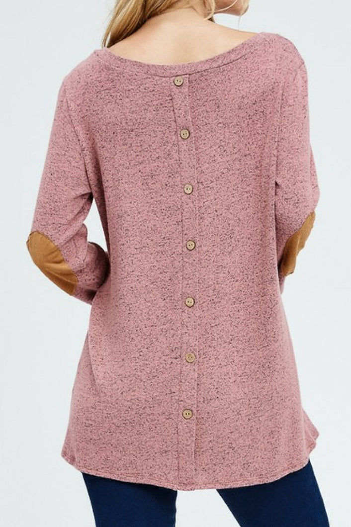 Make Way Button Back Top (Mauve)