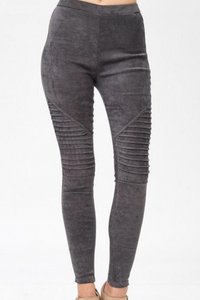 Per-Suede Me Jeggings (Grey)
