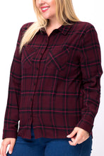 Load image into Gallery viewer, Wine Down Wednesday Button Up Plaid