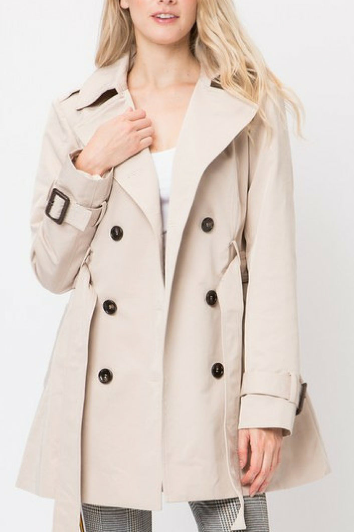 Class Act Trench Coat (Khaki)