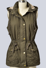 Load image into Gallery viewer, Adventure Bound Fur Lined Vest (Olive)