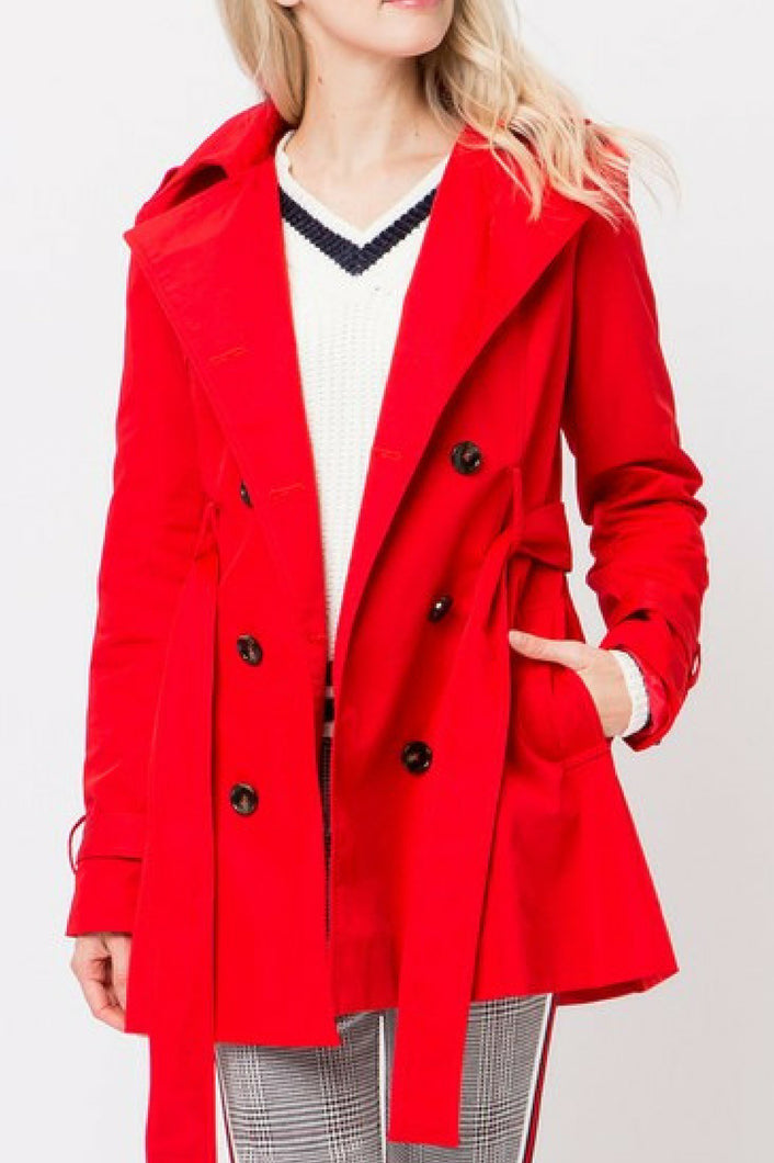 Class Act Trench Coat (Red)