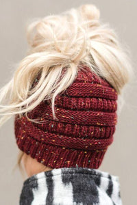 C. C Ponytail Confetti Beanie (Multiple Colors)