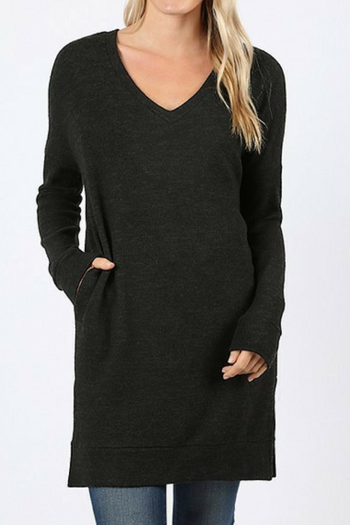 Gettin' Cozy Sweater (Black)