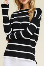 Load image into Gallery viewer, Stripe Out Sweater (Black and White)