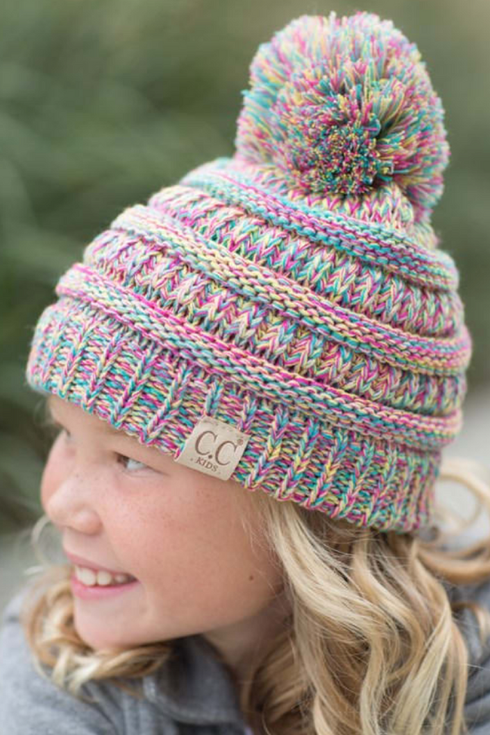 C. C Kids Pom Pom Beanie (Additional Colors)