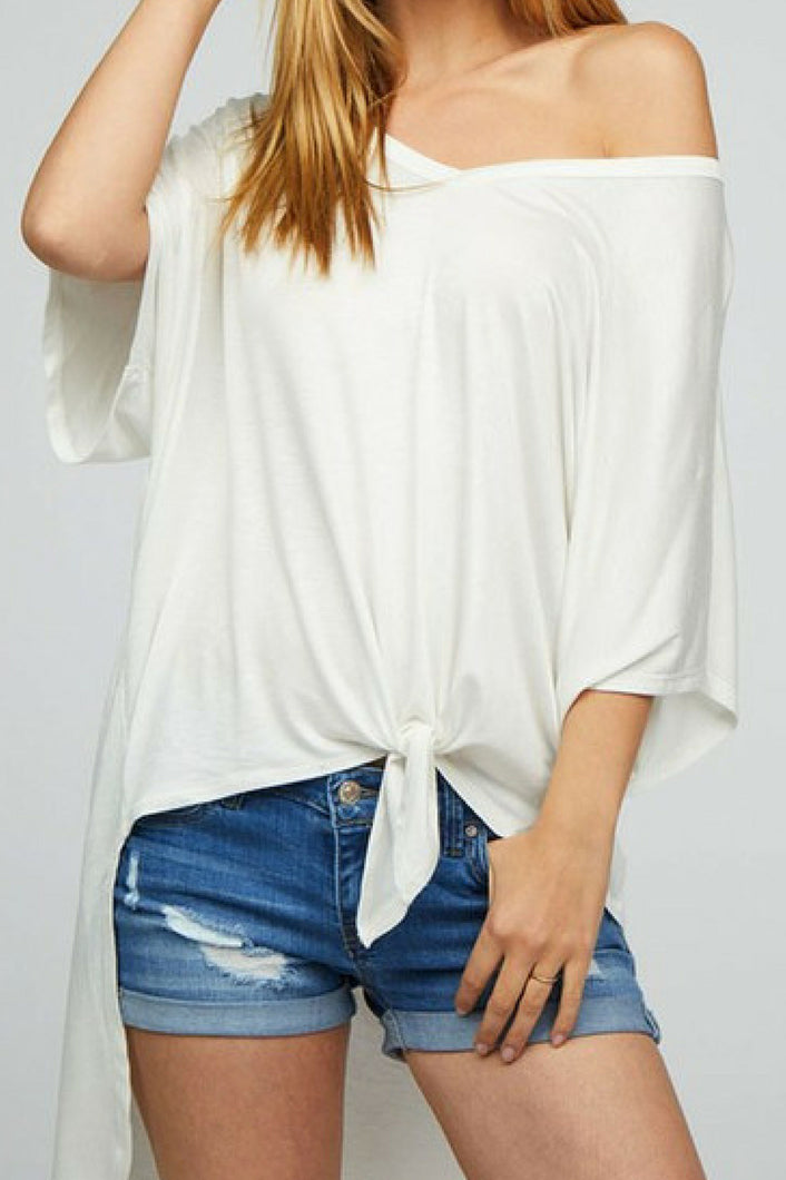 Off the Grid High Low Tee (White)