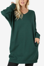 Load image into Gallery viewer, By the Fire Pocketed Sweatshirt (Hunter Green)