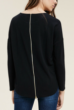 Load image into Gallery viewer, Life Exposed Zipper Back Top (Black)