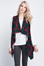 Load image into Gallery viewer, Plaid Love Vest