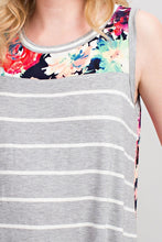 Load image into Gallery viewer, Blurred Lines Tank (Grey)