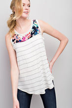 Load image into Gallery viewer, Blurred Lines Tank (Ivory)