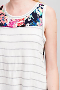 Blurred Lines Tank (Ivory)