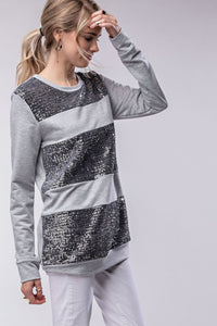 Outshine the Night Girls Top (Silver)