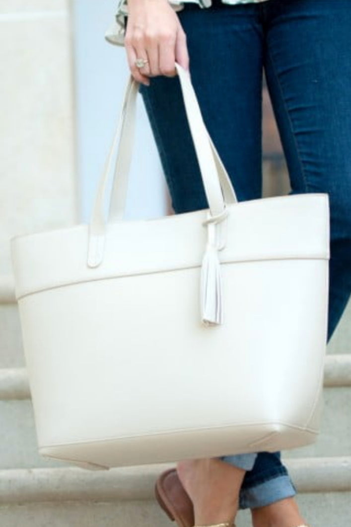 The Aubrey Handbag (Cream)