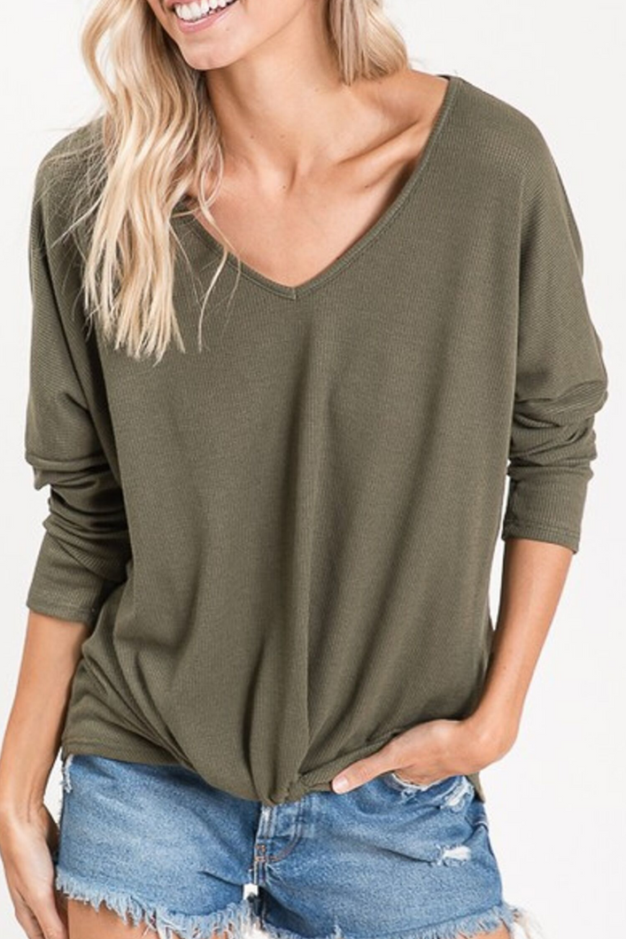 Throw and Go Long Sleeve Top (Olive)