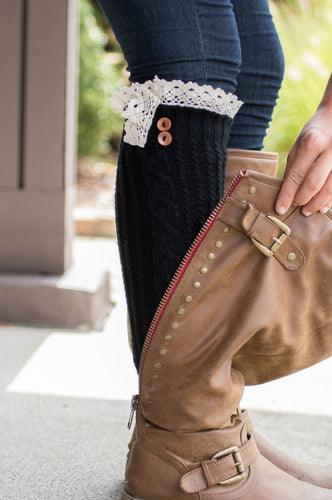 Keepin' It Cozy Boot Cuffs (Black)