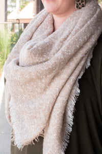 Oh So Chic Blanket Scarf (Beige)