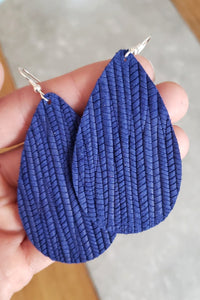 Persian Blue Sea's Leather Earrings