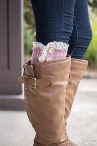 Peek-a-Boot Leg Warmer (Rose)