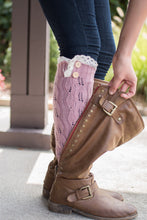 Load image into Gallery viewer, Peek-a-Boot Leg Warmer (Rose)