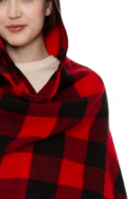 Load image into Gallery viewer, Little Red Riding Hood Plaid Shawl