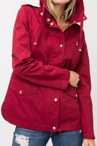 Ready for Anything Utility Jacket (Burgundy)