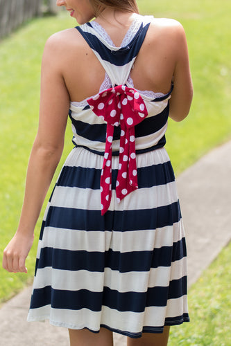 Spot On Mommy & Me Dress (Navy)