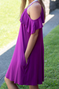 Along the Shore Dress (Purple)