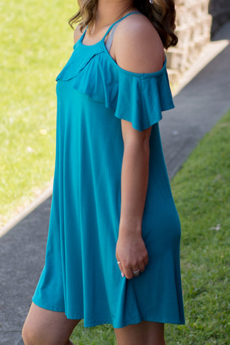 Along the Shore Dress (Teal)