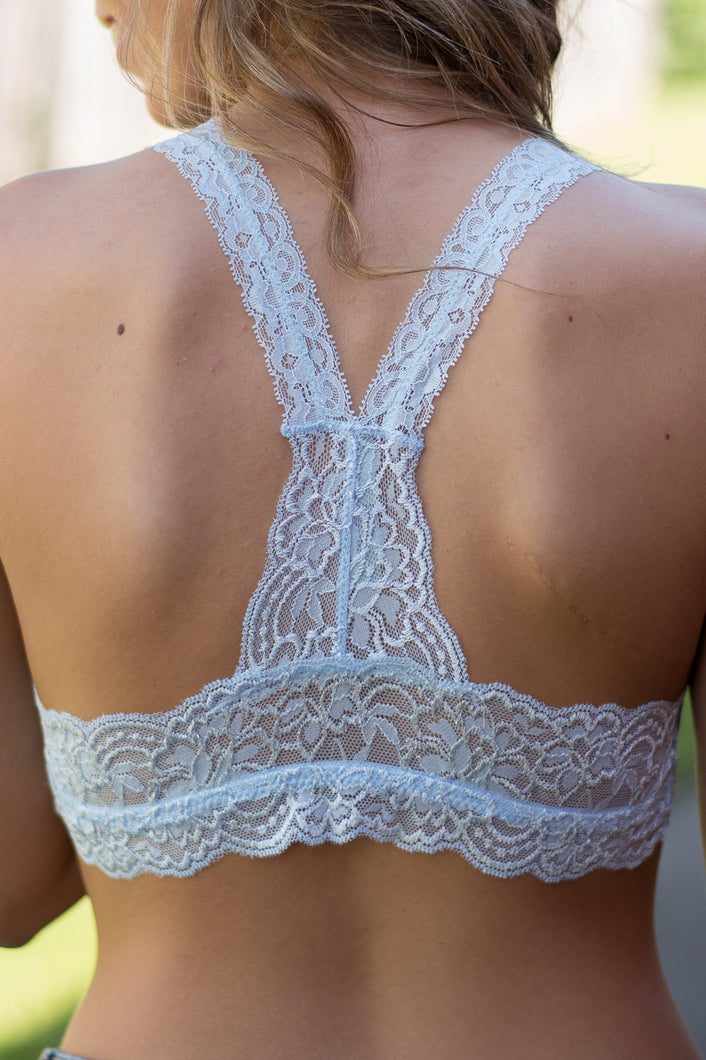 So In Love Racerback Bralette (Light Blue)