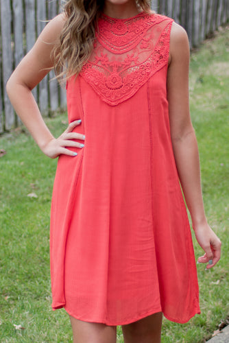 No Secrets Dress (Coral)