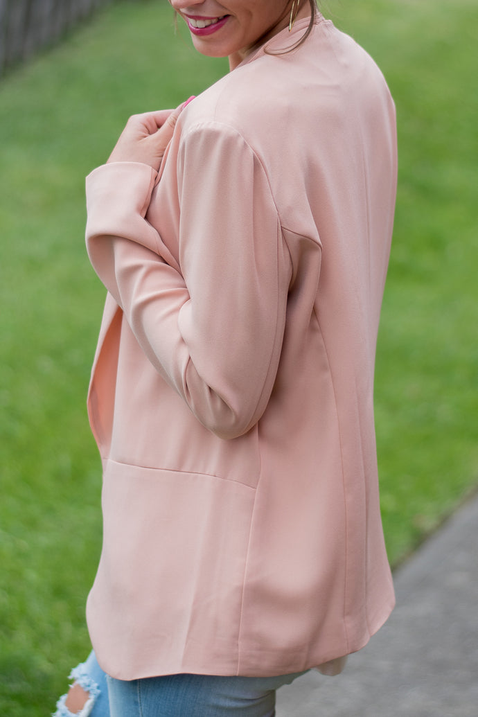 I Mean Business Blazer (Dusty Peach)