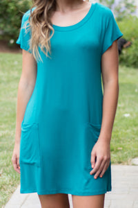 Push my Buttons Tunic (Jade)