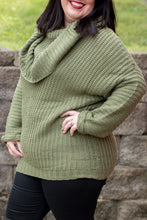 Load image into Gallery viewer, Be Mine Sweater (Olive)(CURVY)
