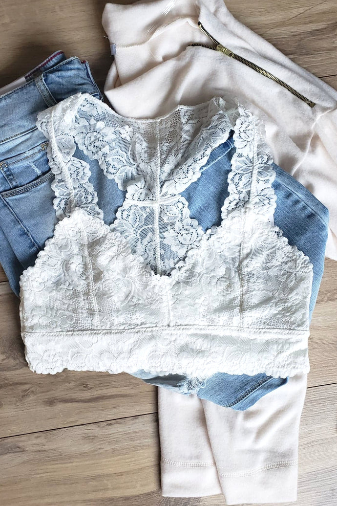 No Lace Like Home Bralette (White)