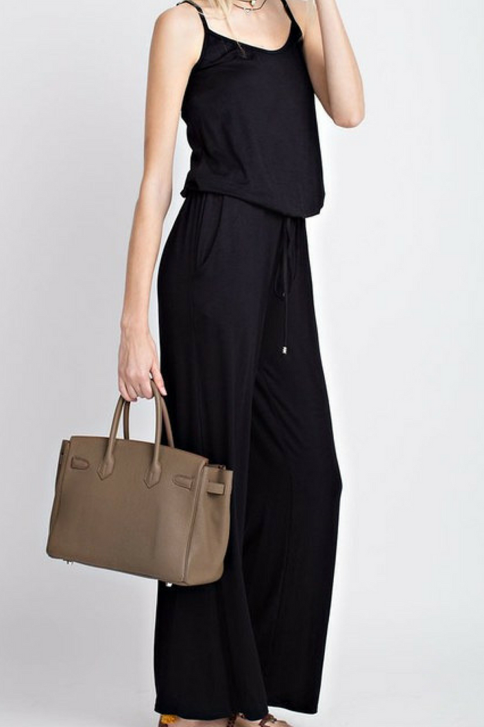 Get a Jump Start Jumpsuit (Black)
