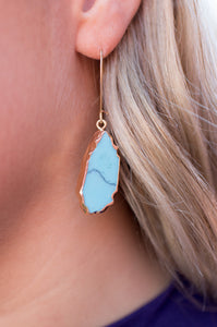 True to Me Earrings (Turquoise)