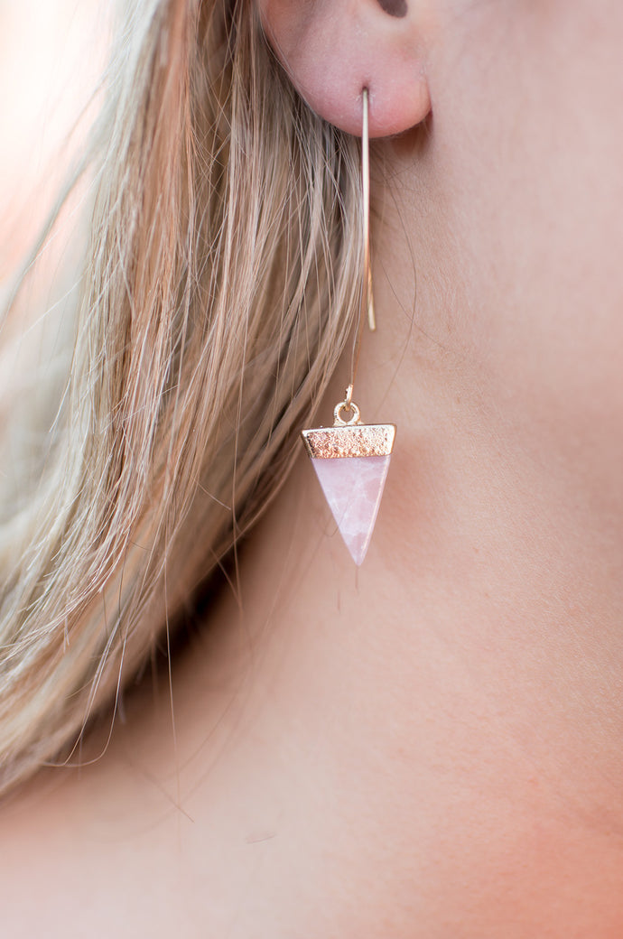 To Cap It Off Earrings (Pink)