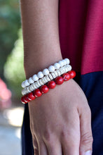 Load image into Gallery viewer, Beaded Beauty Bracelet Stack (Red)