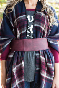 Top It Off Belt (Burgundy)