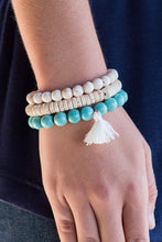 Load image into Gallery viewer, Beaded Beauty Bracelet Stack (Turquoise)