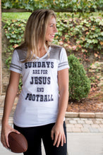 Load image into Gallery viewer, Jesus and Football Tee