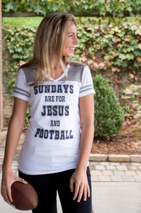 Jesus and Football Tee