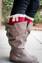 Load image into Gallery viewer, Peek-a-Boot Leg Warmers (Red)