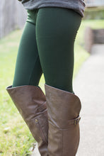 Load image into Gallery viewer, Amazing Fleece Lined Leggings (Dark Green)