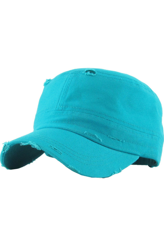 Reserved Distressed Cadet Hat (Turquoise)